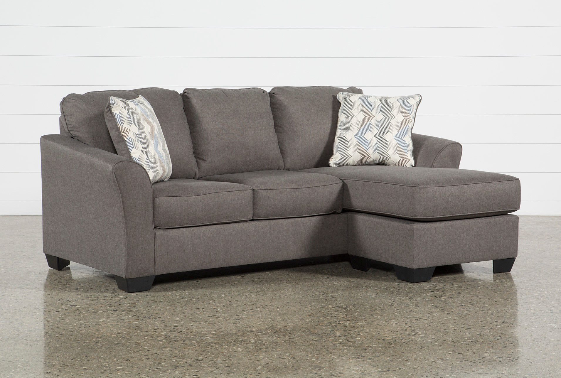 Tucker 89 Sofa With Reversible Chaise Living Spaces