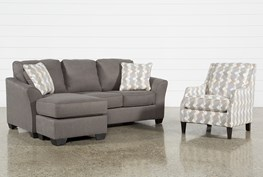 Tucker 2 Piece Living Room Set With Queen Sleeper And Accent Chair