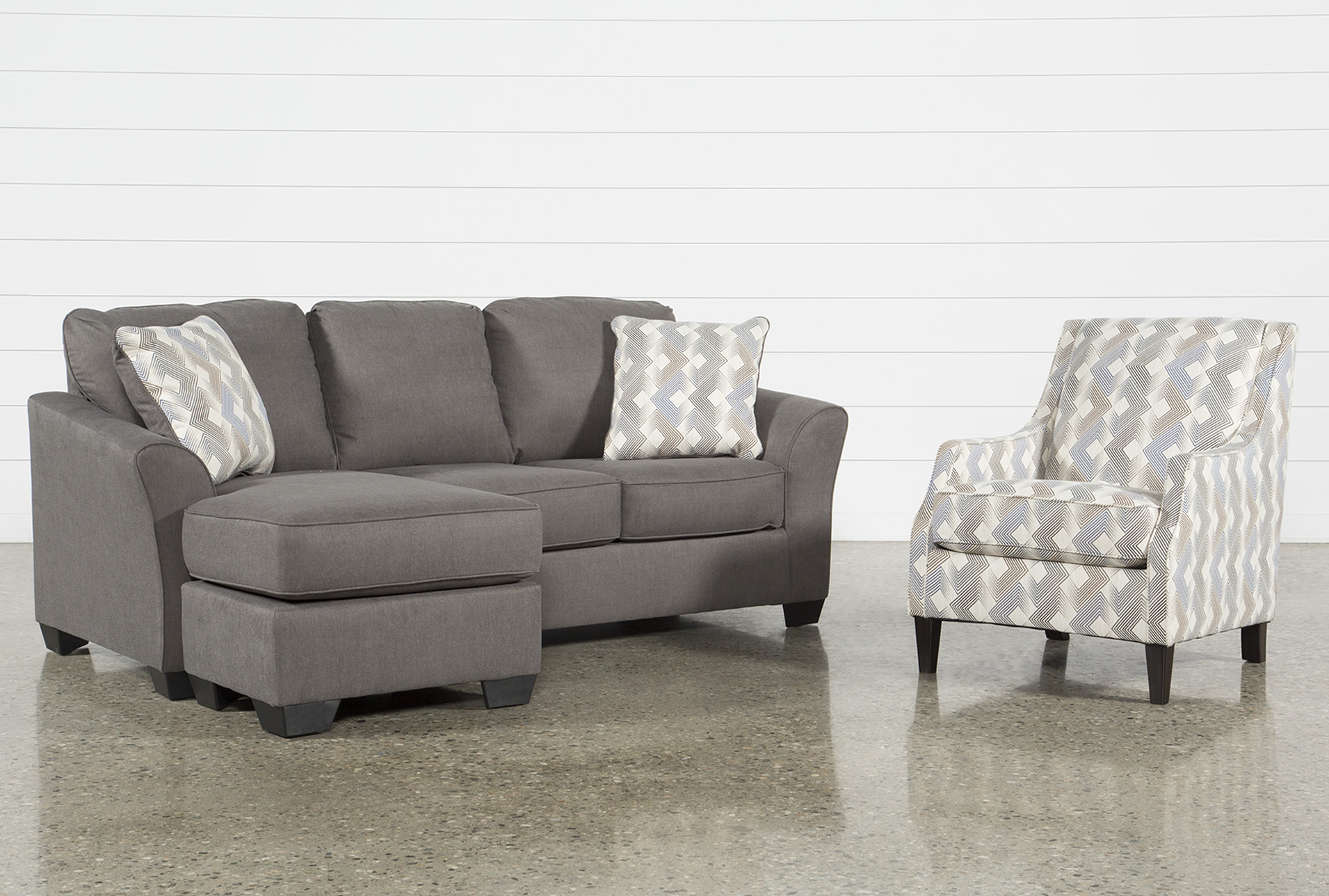 Elegant Tucker 2 Piece Living Room Set With Queen Sleeper And Accent Chair   360