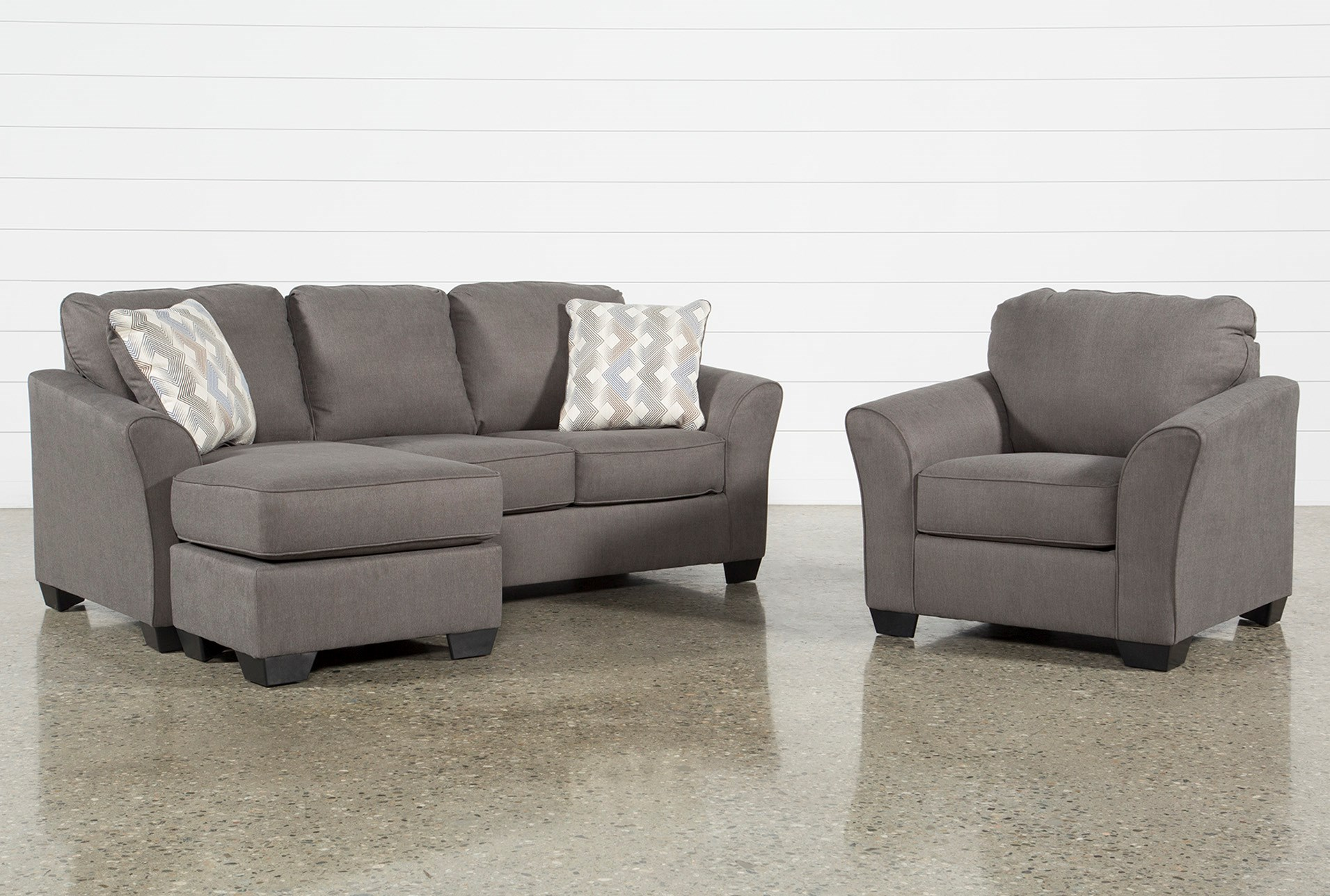 Tucker 2 Piece Living Room Set With Queen Sleeper And Arm Chair ...