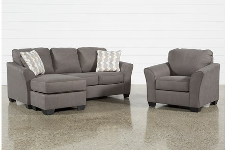 Tucker 2 Piece Living Room Set With Queen Sleeper And Arm Chair