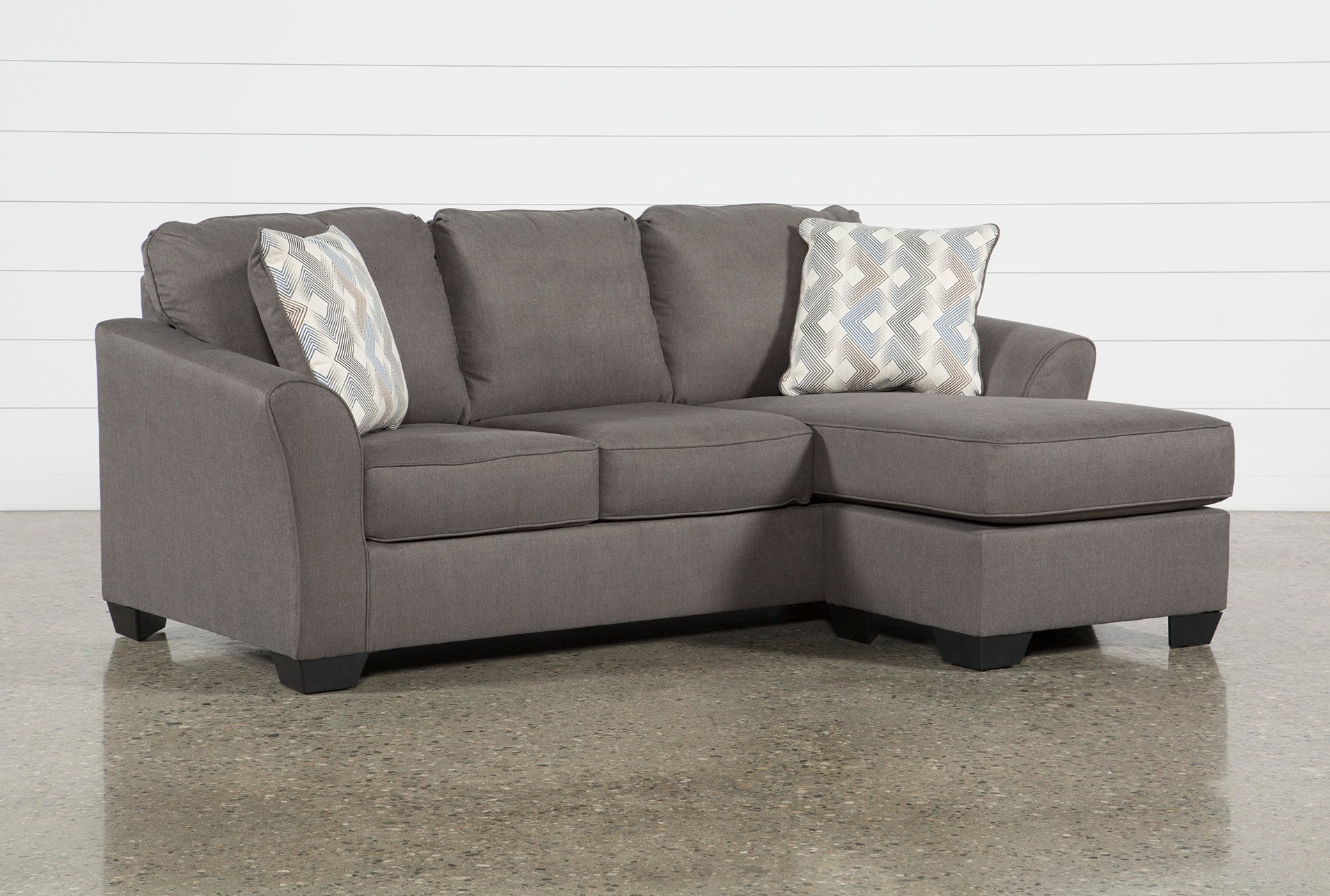 Tucker Queen Sleeper With Reversible Chaise Living Spaces