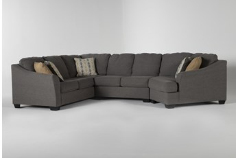 """Fenton 3 Piece 150"""" Sectional With Right Arm Facing Cuddler"""