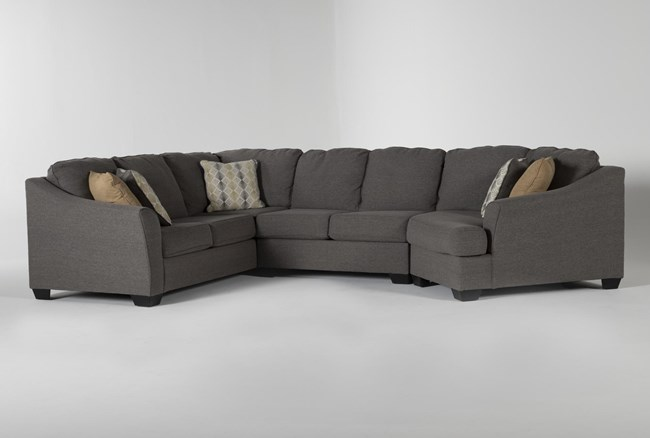 """Fenton 3 Piece 150"""" Sectional With Right Arm Facing Cuddler - 360"""