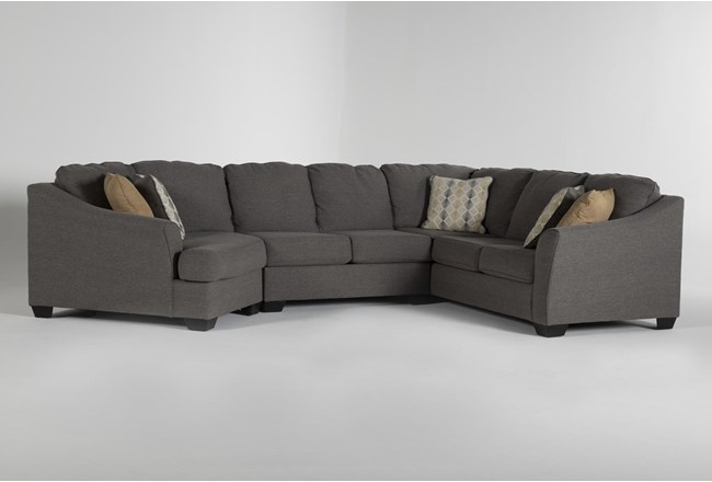 Fenton 3 Piece Sectional With Left Arm Facing Cuddler - 360
