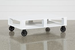 Navaho Coffee Table On Wheels