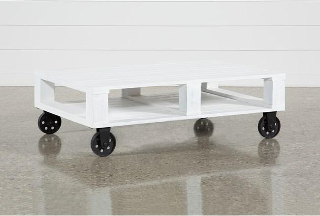 Navaho Coffee Table On Wheels - 360