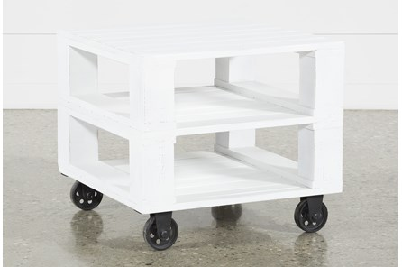 Navaho End Table On Wheels