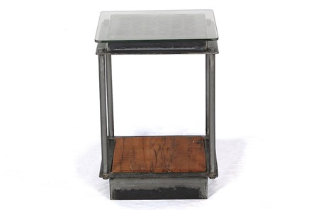 Industrial Iron Accent Table