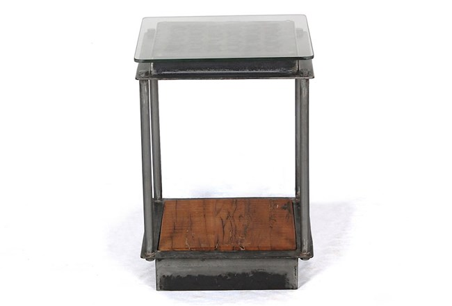 Industrial Iron Accent Table - 360