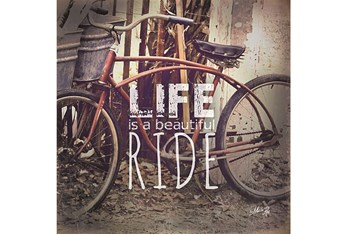 36X36 Life Is A Beautiful Ride