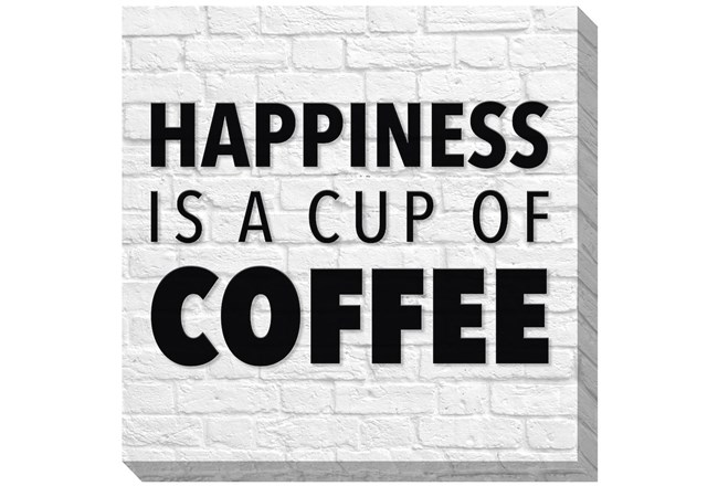 Picture-Happiness Is A Cup Of Coffee 36X36 - 360