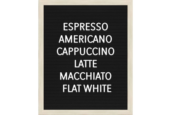 Picture-Coffee Lists 22X18 - 360