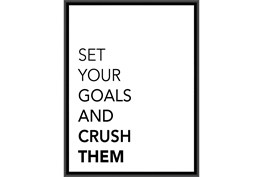 Picture-Set Your Goals And Crush Them 42X32