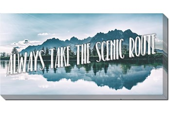 Picture-Always Take The Scenic Route 24X48