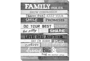 Picture-Family Rules B&W 30X24