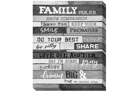Picture-Family Rules B&W 30X24 - Main