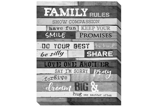 Picture-Family Rules B&W 30X24 - 360