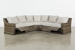 Outdoor Aventura 3 Piece Reclining Sectional