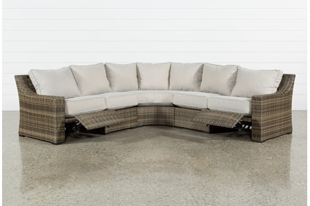 Outdoor Aventura 3 Piece Reclining Sectional - Main