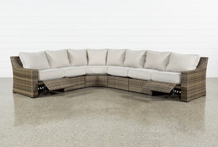 Outdoor Aventura 4 Piece Reclining Sectional