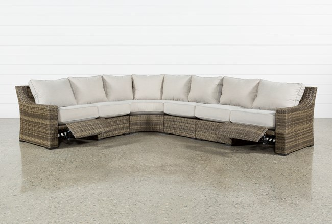 Outdoor Aventura 4 Piece Reclining Sectional - 360