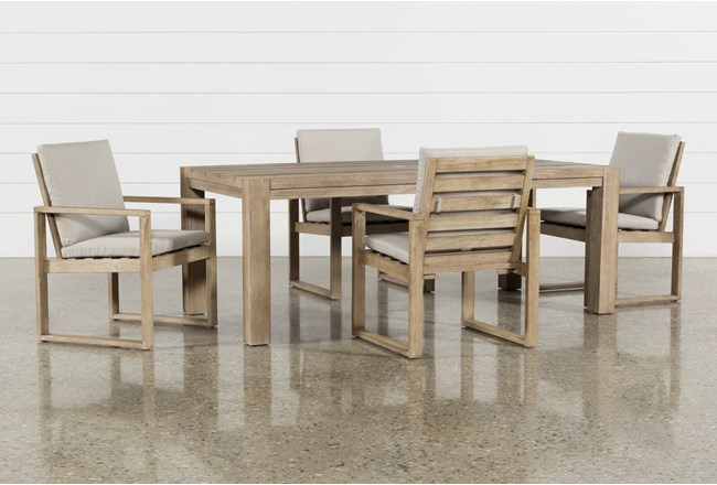 Malaga Outdoor 5 Piece Dining Set - 360