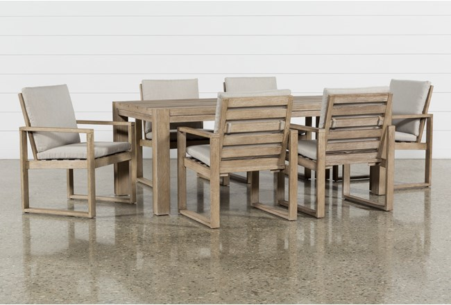 Malaga Outdoor 7 Piece Dining Set With Arm Chairs - 360