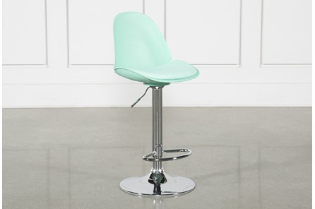 Dixon Aqua 33 Inch Adjustable Bar Stool
