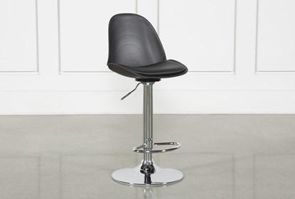 Awesome Dixon Black 33 Inch Adjustable Bar Stool Ibusinesslaw Wood Chair Design Ideas Ibusinesslaworg