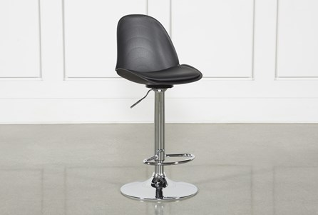 Dixon Black 33 Inch Adjustable Barstool