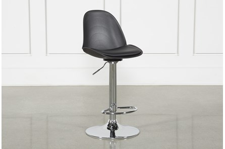 Dixon Black 33 Inch Adjustable Bar Stool