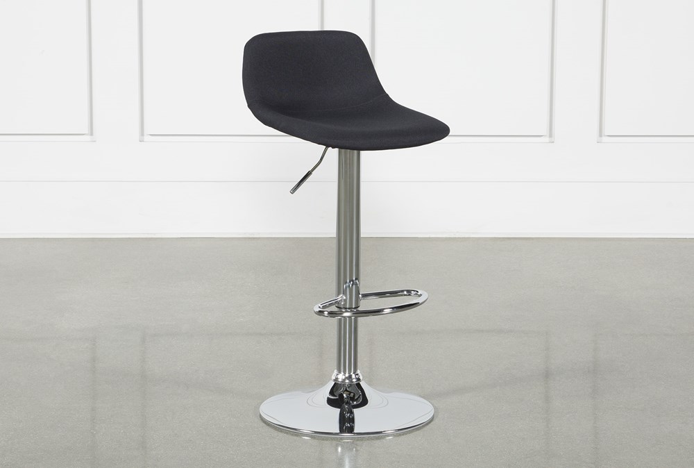 "Davis Black 32"" Adjustable Bar Stool"
