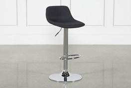 Davis Black 32 Inch Adjustable Barstool