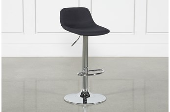 Davis Black 32 Inch Adjustable Bar Stool
