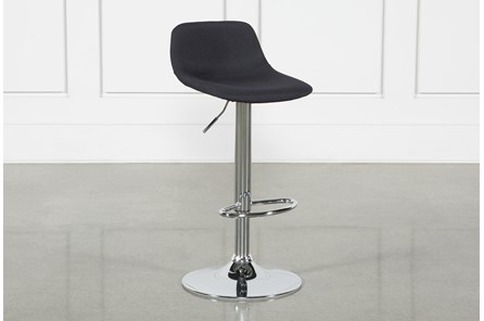 Davis Black 32 Inch Adjustable Bar Stool - Main