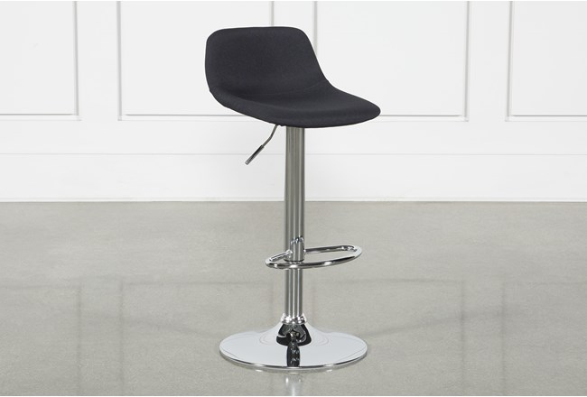"Davis Black 32"" Adjustable Bar Stool - 360"