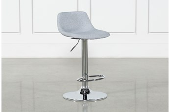 "Davis Grey 32"" Adjustable Bar Stool"