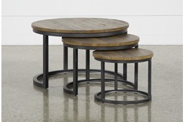 Marvin Rustic Natural 3 Piece Bunching Coffee Table