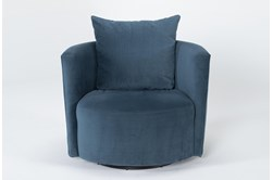 Twirl Swivel Velvet Accent Chair