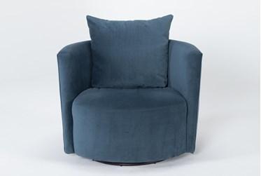 Twirl Swivel Velvet Accent Chair