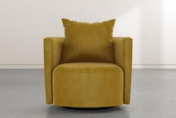 Twirl Yellow Swivel Accent Chair