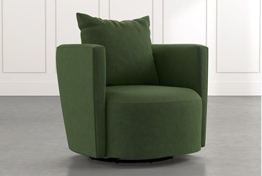 Twirl Green Swivel Accent Chair