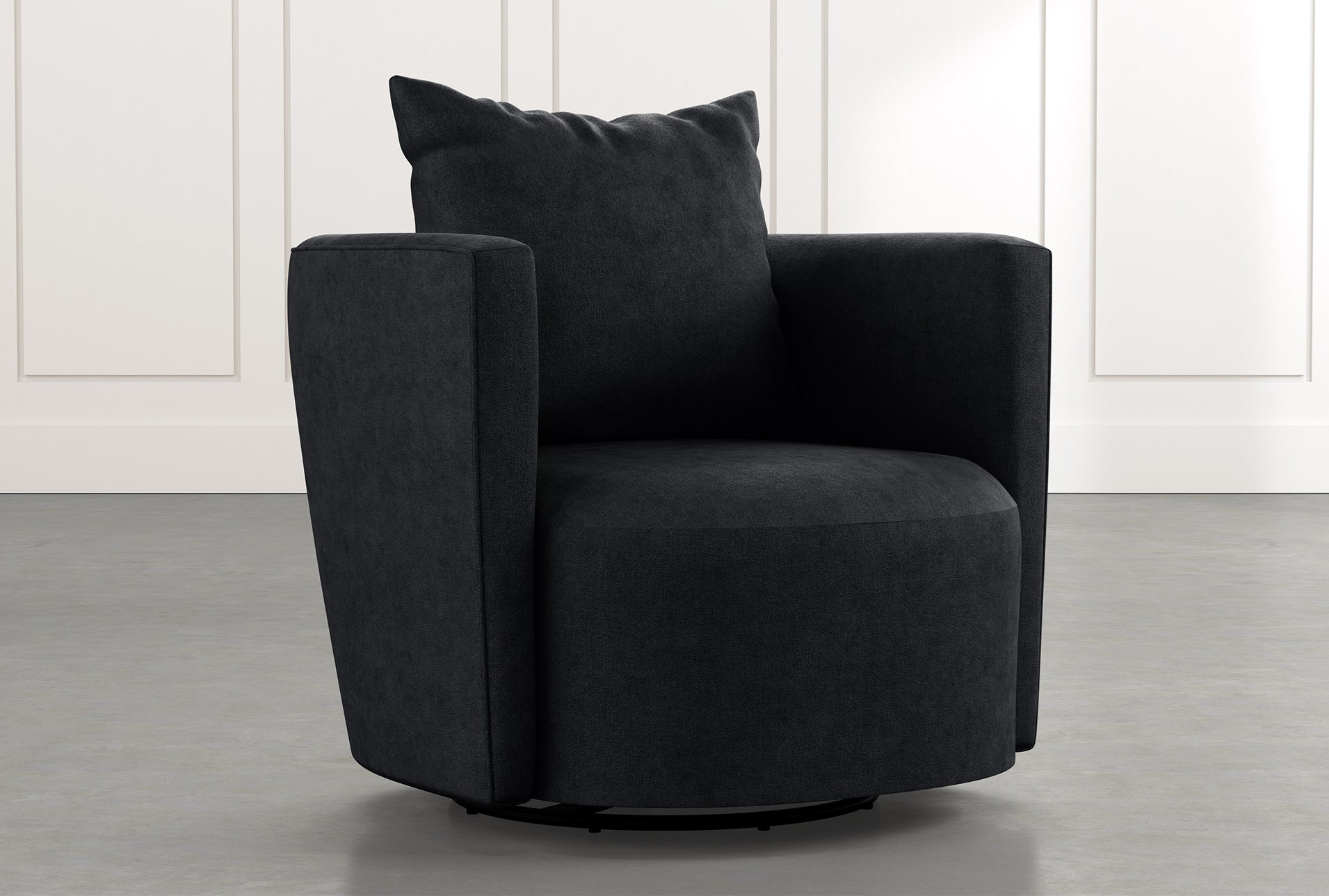 Twirl Black Swivel Accent Chair Living Spaces
