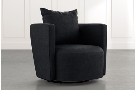 Twirl Black Swivel Accent Chair