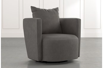 Twirl Dark Grey Swivel Accent Chair