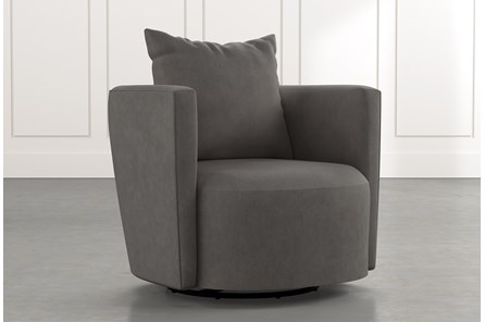 Twirl Dark Grey Swivel Accent Chair