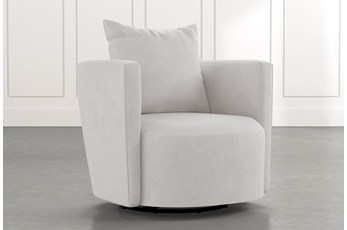 Twirl Light Grey Swivel Accent Chair