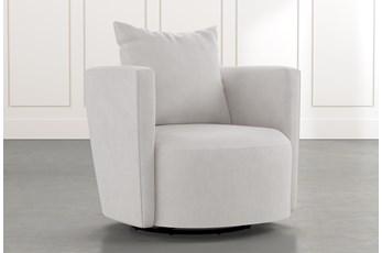 Twirl Light Grey Swivel Accent Chair