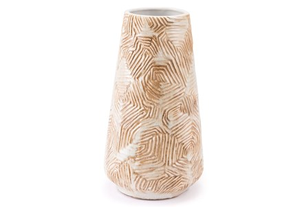 Medium Textured Beige Vase